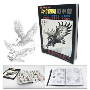Popular Tattoo Art Design Flash Manuscript Sketch Book Eagle Line Drawing Sheet