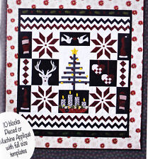 Nordic Christmas - pieced & applique quilt PATTERN - GE Designs