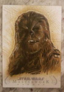 2020 Topps Star Wars Masterwork Chewbacca Sketch by Paul Maitland