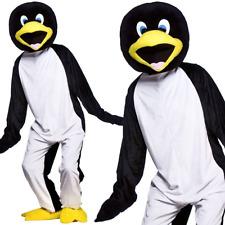 Adult Cool Penguin Big Head Mascot Costume Fancy Dress Animal Zoo Arctic New