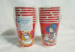 Vintage Holly Hobbie Cups Party Paper Drinking Hot Cold American Greetings 1978
