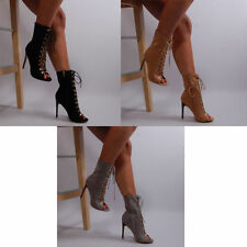 Unbranded Stiletto Clubwear Lace Up Boots for Women