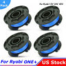 """4xGrass String Trimmer Spool Line For Ryobi Weed Eater One18/24/40V 065""""AC14RL3A"""