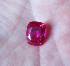 SAPHIR VERNEUIL ROSE INTENSE COUSSIN 10x12 mm qualité joaillerie