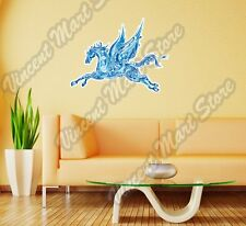 Pegasus Winged Horse Blue Color Abstract Wall Sticker Room Interior Decor 25X20""
