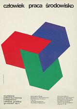 Original Vintage Poster Freudenreich Polish Exhibition 1971