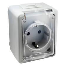 Base Schuko transparente con tapa autocierre de protección