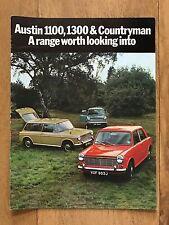 Vintage Austin 1100, 1300 HL, 1300 GT & Countryman Car Sales Brochure No.2717