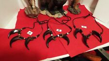 BEAR CLAW NECKLACE - Grizzly 3 CLAW Replicas  ( A, B, or C )