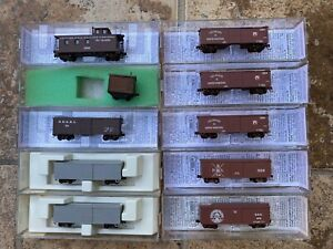 Nn3 Scale Micro-Trains MTL set of 10 freight cars and caboose