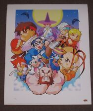 STREET Fighter manga UK ESCLUSIVO Giclee LIMITATO NUMERATO Lithograph Art Print