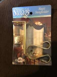 Graber Sesational Swags. Magic Swagholder. Brass Finish