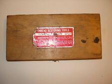 Vintage Jawco Thread Restoring Tools in original wood box