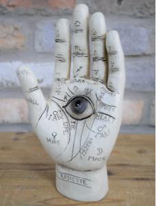 Resin Palmistry Palm Reading Hamsa Eye Hand Ornament Chiromancy Fortune Decor