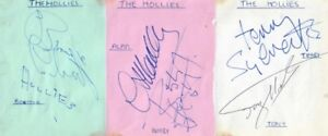 THE HOLLIES 1969 SIGNED AUTOGRAPHS