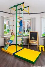 Kids Playground with Exercise Equipment Rope Ladder Swing Set, Climbing Rope