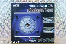 USB Power Big Fan LED Light Air Cooling Pad Cooler Stand For Laptop Notebook
