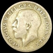 1921 Great Britain 6 Pence Silver Coin - George V KM#815a Lion & Crown