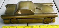 Wood wooden pen box gold color, sportscar shaped, with pen NEW