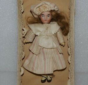 """ANTIQUE FRENCH or GERMAN Bisque Socket Head MIGNONETTE 5 1/4"""" ALL ORIGINAL DOLL"""