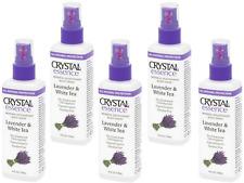 5 x 118ml CRYSTAL ESSENCE Body Deodorant Spray - Lavender & White Tea