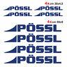 Kit completo 8 adesivi per camper Pössl BLU NOTTE loghi possl caravan roulotte