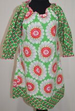 Hippo Hula Girls 4T Boutique Pink Green Bright Daisy Floral Dress