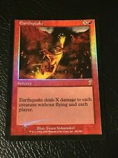 MTG Magic the Gathering English FOIL 7th Edition Rare EARTHQUAKE See Pics!