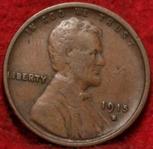 1915-S San Francisco Mint Copper Lincoln Wheat Cent