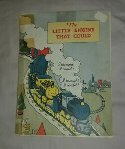 """Vintage Paper Children""""s Book the Little Engine that Could 1951"""