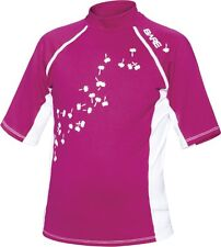 Bare Youth Pink Short Sleeve Sunguard Kids Rash Guard 50+ SPF UV Protection 8yrs
