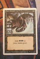 Dark ritual ( Messe noire ) LP  Revised     Magic MTG VO
