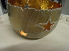 chandelier photophore métal étoile bol couleur or lumière bol 16 cm