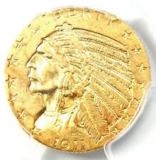 1911 Indian Gold Half Eagle $5 Coin - Certified PCGS AU58 - Rare Coin!