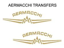 Aermacchi Tank Transfers Decals Motorcycle Sold as a Pair Gold D141