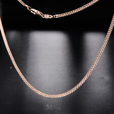 New Womens&Mens Rose Gold Plated Flat Chain Neckelace 450mm Free shipping