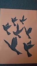 770 Schablone Vogelschwarm Wandtattoo Wandbilder Airbrush Wanddekoration Stencil