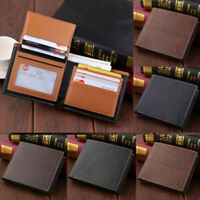 Coin Purse Pu Leather Men's Wallet Bifold Credit Card Holder Money Clip