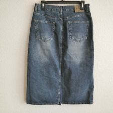 Calvin Klein  Denim 5 Pckts Long Skirt Size 8 Distressed Wash