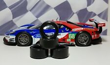 1/24 PAUL GAGE URETHANE SLOT CAR TIRES 2pr fit Carrera D124 Ford GT
