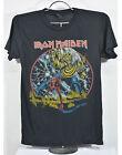 Iron Maiden Black T shirt Metal Rock band Tour Vtg new men's tee unisex size M L