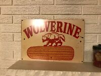 Seed sign, Wolverine Hybrids, Michigan Hybrids Seed .040 Aluminum Sign New