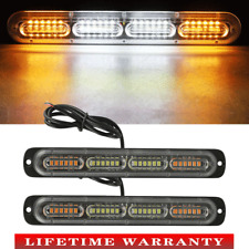 2x Car Led Amber Police Strobe Flash Light Dash Emergency Warning Lamp Kit Set