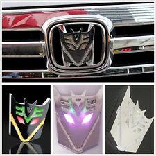 New Type 3D Transformers Decepticons Badge Car Exterior Sticker Solar LED Light