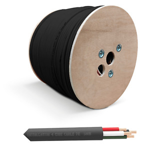 QED QX16/4 - 4 Core Outdoor Buriable PE Speaker Cable - Black (Per Metre)