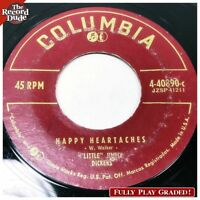 LITTLE JIMMY DICKENS Happy Heartaches COLUMBIA country bopper PLAY GRADE 45 Hear