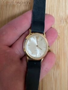 Vintage Gold Plated Timex Marlin Manual Wind Men's Watch Great Britain Dial