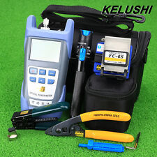 Fiber Optic Cable Tool Kit Fiber Cleaver Power Meter 1mW Vsual Fault Locator