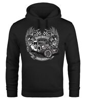 Hoodie Herren Rockabilly Hot Rod Rock n Roll Auto Kapuzen-Pullover Neverless®