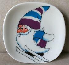 Arabia Finland small plate Lahti 1989 Nestori the Elf ski jumper World Ski Champ